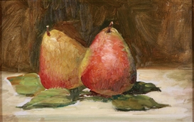 Artwork by John Singer Sargent, Still Life with Fruit, Made of Oil on textured paper