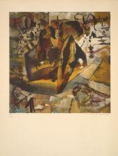 Artwork by Marcel Duchamp, LES JOUEURS D'ECHECS, Made of Color lithograph