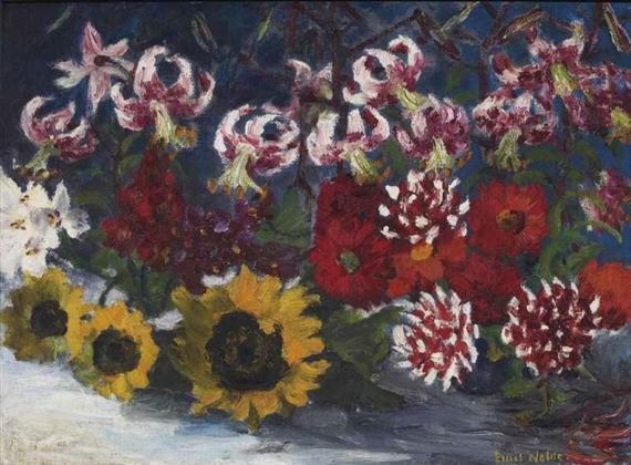 Nolde Emil Herbstblumen 1931 Mutualart