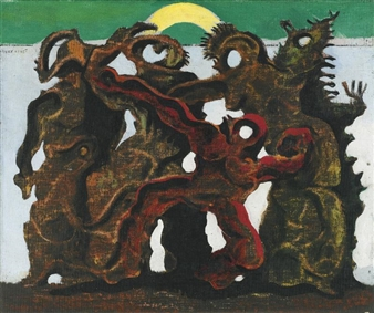 Max Ernst La Horde 1927 Oil On Canvas