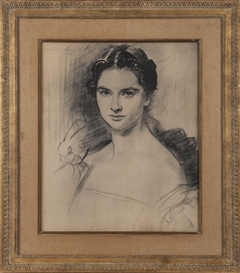 Artwork by John Singer Sargent, 2 Works: Printed portrait of a woman & An etching, Made of Various media
