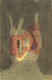 Artwork by Paul Klee, SCHÜTZERIN (PROTECTRESS), Made of watercolour and pencil on paper