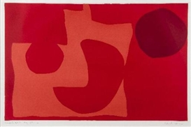 Artwork by Patrick Heron, Winchester Red I, Made of silkscreen printed in colours