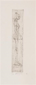 Artwork by Alberto Giacometti, Nu de Profil, Made of rare etching