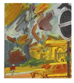 Artwork by Frank Auerbach, PARK VILLAGE EAST, Made of oil on board