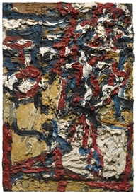 Artwork by Frank Auerbach, J.Y.M. IN THE STUDIO II, Made of oil on double board