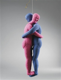 Artwork by Louise Bourgeois, COUPLE, Made of fabric