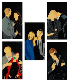 Artwork by Alex Katz, PAS DE DEUX, Made of Serigraph on paper
