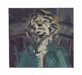 Artwork by Frank Auerbach, Head of J.Y.M. II, Made of oil on canvas
