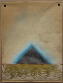 Artwork by Paterson Ewen, Pyramid, Made of Mixed media on padded envelope