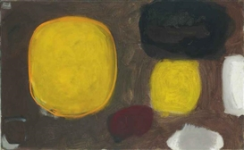 Artwork by Patrick Heron, Yellow Oval (Brown): October, Made of oil on canvas