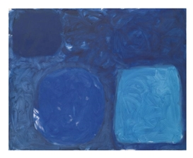 Artwork by Patrick Heron, BLUE PAINTING: AUGUST 1960, Made of oil on canvas