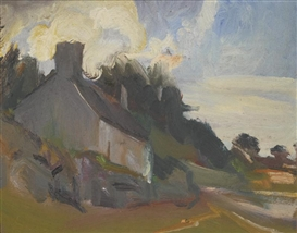 Artwork by David Bomberg, TALGWYN FARM, RED WHARF-BAY, ANGLESEY, Made of oil on board