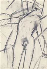 Keith Vaughan, Nude, draped