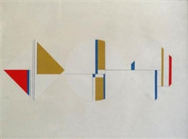 Artwork by Ilya Bolotowsky, Abstract Geometric Silkscreen, Made of Geometric Silkscreen