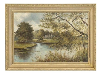 Cottage, thought to be at Sandringham By Octavius T. Clark