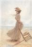 Edouard Bisson, Elégante sur la plage