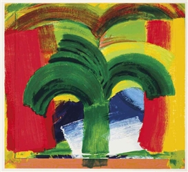 Artwork by Howard Hodgkin, In Tangier, Made of screenprint in colors on Huntsman Velvet paper