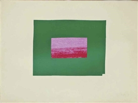 Artwork by Howard Hodgkin, Prints I and K, from Indian Views, Made of screenprints in colors on J Green paper