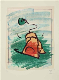 Artwork by Claes Oldenburg, Tea Bag, Made of lithograph in colors on Auvergne paper