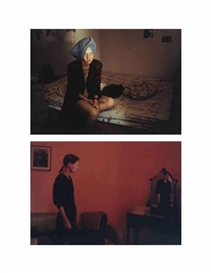 Artwork by Nan Goldin, 2 works: Suzanne with Mona Lisa, Mexico City; Suzanne with Towel, NYC, Made of ektacolor prints