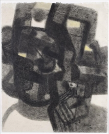 Artwork by Maurice Estève, Composition, Made of Charcoal and pastel on paper