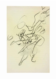 Artwork by Willem de Kooning, Untitled, Made of Charcoal on paper