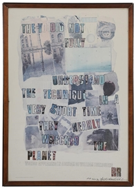 Artwork by Robert Rauschenberg, Burroughs Dream, Made of offset lithographic poster