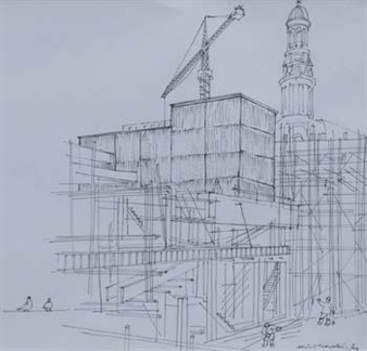 (4) Manchester views to include St. Peter's Square; Side Entrance, Town Hall; The Old Shambles and Whitworth Art Gallery By Albin Trowski ,1976
