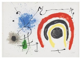 Artwork by Joan Miró, Le lezard aux plumes d'or, plate 13, Made of lithograph