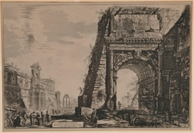 Artwork by Giovanni Battista Piranesi, Veduta dell'Arco di Tito, Made of Etching on paper