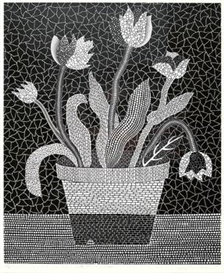 Artwork by Yayoi Kusama, Flowers PX, Made of Lithograph