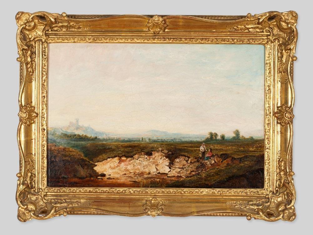 Edmund John Niemann - Sands Bay, Whitby, 1870, Oil...