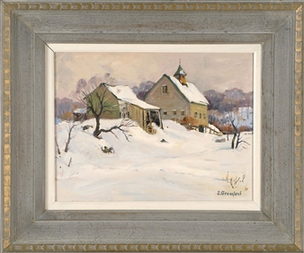 Farm in Winter - Laneville, MA By Jacob I. Greenleaf