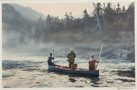 Artwork by Odgen M. Pleissner, Blue Boat on the St. Anne, Made of color print