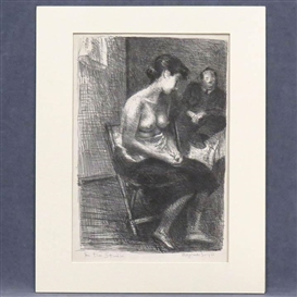 Artwork by Raphael Soyer, IN THE STUDIO, Made of Lithograph