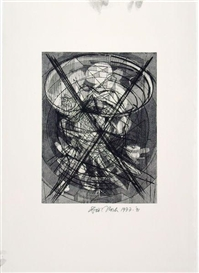 Artwork by Dieter Roth, Komposition V, Made of Etching on laid paper