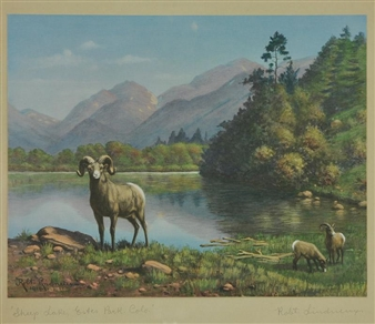 Sheep Lake, Estes Park By Robert Lindneux ,1919