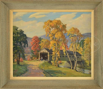 COVERED BRIDGE, VT By Jacob I. Greenleaf