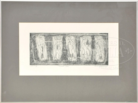Artwork by Louise Nevelson, MIRRORED FIGURE, Made of Etching on paper
