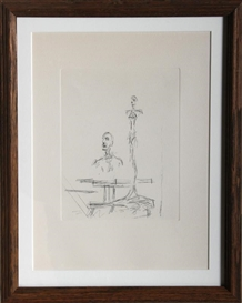 Artwork by Alberto Giacometti, The Search, Made of Restrike Etching