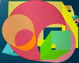 Artwork by Al Held, Scholes II, Made of Screenprint