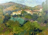 Annabel Gosling, 2 works: A Provencal village; A shaded garden