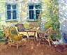 Annabel Gosling, 2 works: A shaded terrace; Provencal landscape