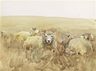 4 Works: Sheep Grazing and Others By Mildred Anne Butler