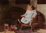 Thomas Anshutz, Child in a Blue Dress in a Chair