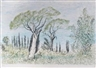 André Bicât, 4 Works: Summer Urbania; Olive Groves; Untitled; Olive Groves