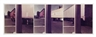 Jan Groover, Untitled, Triptych (Pole C, Horizontal WH. Line, 3 Trucks)