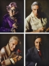 Lewis Morley, 4 works: Set of Portraits of Barry Humphries and Friends