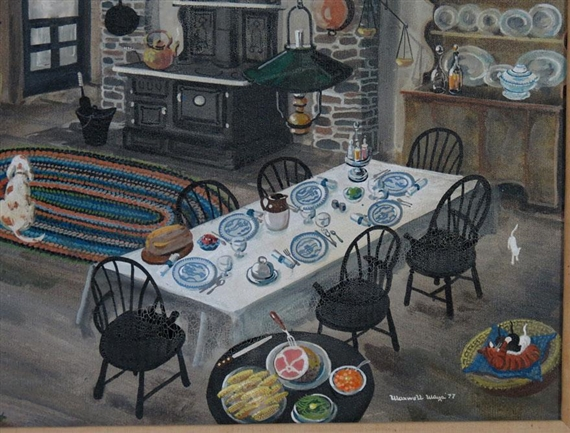 artwork by maxwell mays kitchen in a pennsylvania farmhouse made of oil on canvas - Mays Kitchen